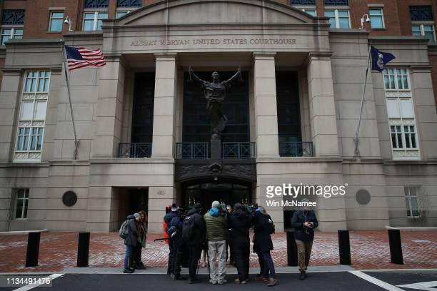 Members of the media surround attorneys for Chelsea Manning, Moira Meltzer-Cohen and Christopher Leibig as they speak outside the Albert V. Bryan...