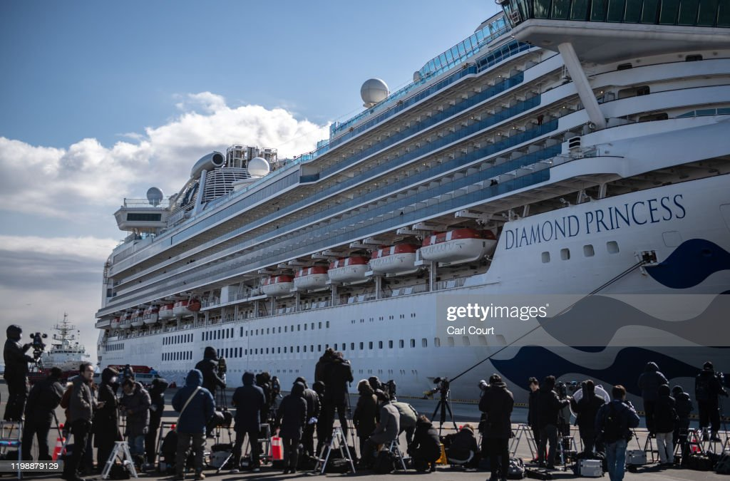 Japan Screens Cruise Ship Diamond Princess For The Wuhan Coronavirus : News Photo