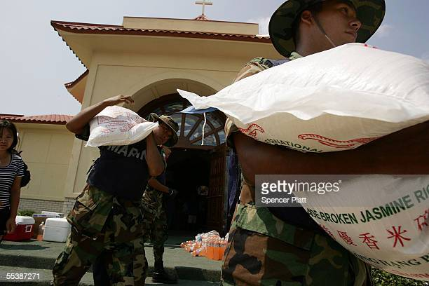 Members of the Mexican military on US soil for the first time since 1846 and in Mississippi to help in the rescueandrecovery effort in the aftermath...
