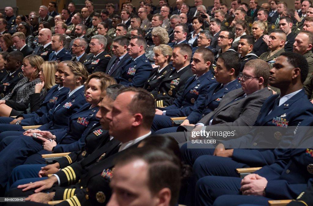 US-DIPLOMACY-POLITICS-DEFENSE-SECURITY-TRUMP : News Photo