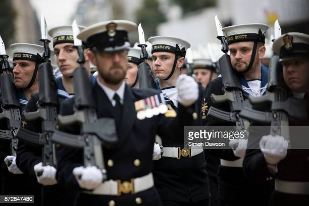 Members of the military parade during the Lord Mayor's Show on November 11 2017 in London England The Lord Mayor's Show now in its 802nd year makes...