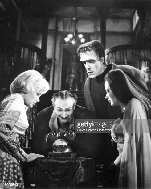 Members of the Munster family in a publicity still for season one of the comedyhorror TV series 'The Munsters' 1964 Left to right Beverley Owen as...