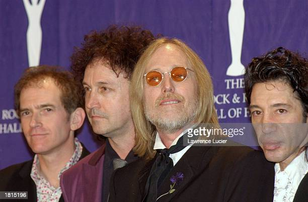 Members of the music group Tom Petty and the Heartbreakers attend the 17th Annual Rock and Roll Hall of Fame Induction Ceremony March 18 2002 in New...