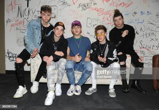 Members of the music group Why Don't We Jonah Marais Corbyn Besson Daniel Seavey Jack Avery and Zach Herron visits Music Choice at Music Choice on...