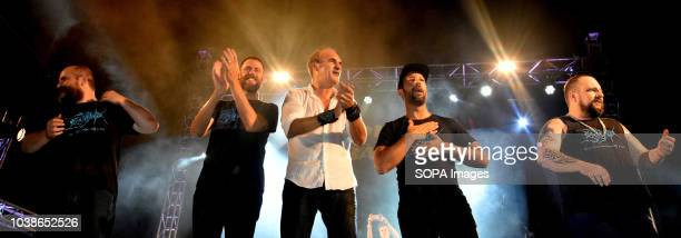 Members of the musical group Hotel Cochambre left to right Miguel Pino Diegio Martin Benito Inglada Charlie Cuavas Danny Navarro seen on the same...