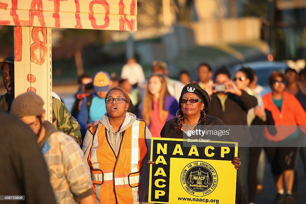 Ferguson Celebrates Thanksgiving Weekend Amidst Turmoil : News Photo