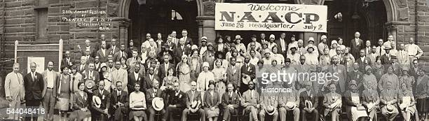 20th Annual Session of the NAACP June 26 Cleveland Ohio silver print Pictured sitting are NAACP staff including WEB DuBois James Weldon Johnson...