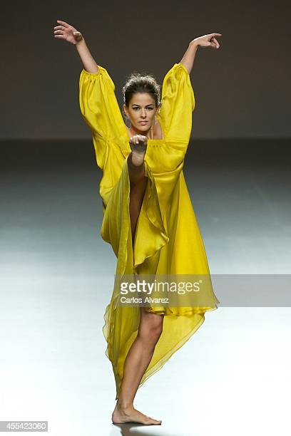 Members of the National Ballet of Spain showcase designs by Duyos on the runway at Duyos fashion show during Mercedes Benz Fashion Week Madrid...