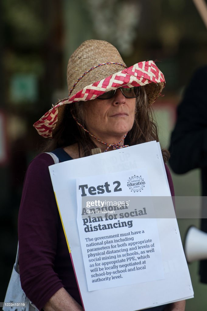 Members Of The National Education Union Hold A Socially Distanced News Photo Getty Images
