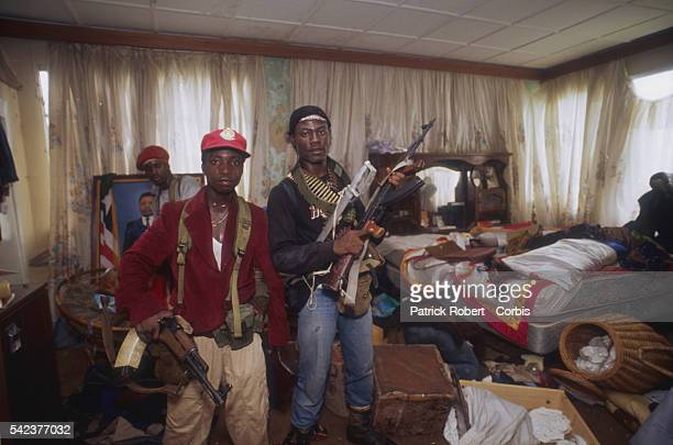 Members of the National Patriotic Front of Liberia raid the Congo Town home of Jackson Doe the brother of President Samuel Doe Responding to years of...