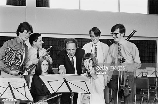 Members of the National Youth Orchestra of Great Britain UK 16th August 1971 From left to right Martin Mayes on the French horn John Miller on...