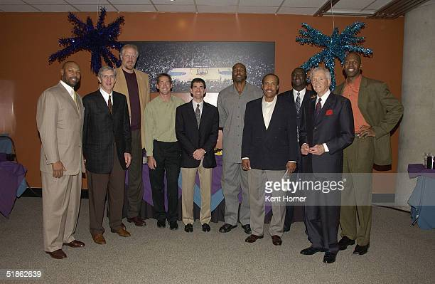 Members of the NBARPA Mel Davis Jerry Sloan Mark Eaton Jeff Hornacek John Stockton Karl Malone Ron Boone Tyrone Corbin Rod Hundley and Thurl Bailey...