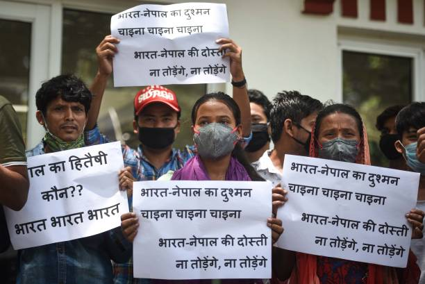 IND: Nepalese Community Protests In Delhi