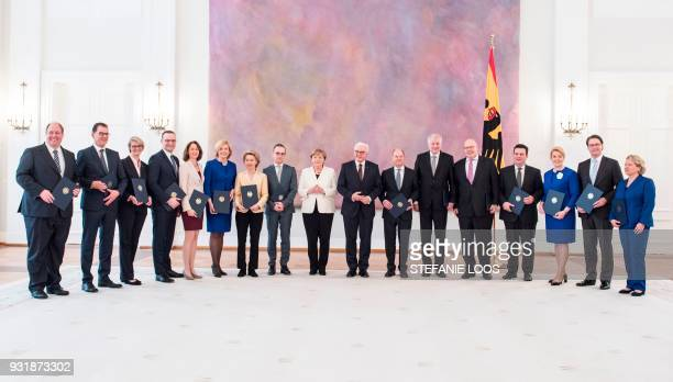 Members of the new cabinet German Chief of Staff Helge Braun German Development Minister Gerd Mueller Germany Minister for Education and Research...