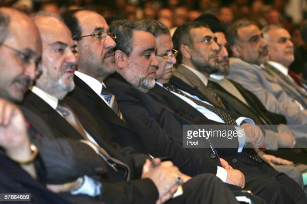 Members of the new Iraqi government government including Prime Minister Nuri alMaliki attend a national assembly meeting May 20 2006 in Baghdad Iraq...