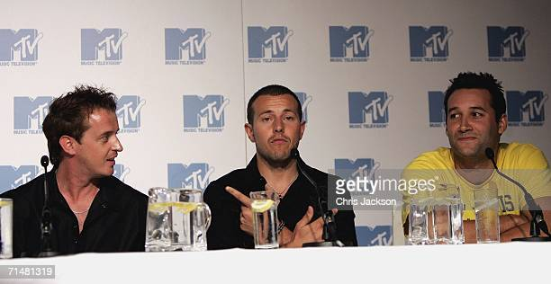 Members of the New MTV program 'Totally Boyband' Jimmy Constable, Lee Latchford Evans and Dane Bowers talk at a press conference to launch the new...