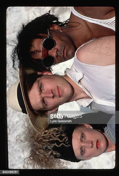 Members of the new wave band Thompson Twins are from left Allanah Currie Tom Bailey and Joe Leeway