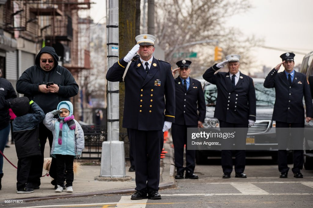 Funeral Held For New York City Fire Fighter Who Helped Evacuate People During The World Trade Center Attack