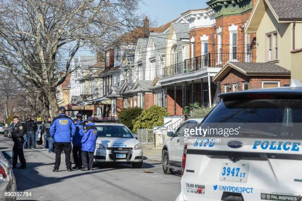 Members of the New York City Police Department investigate an address associated with suspected terrorist Akayed Ullah on December 11 2017 in the...