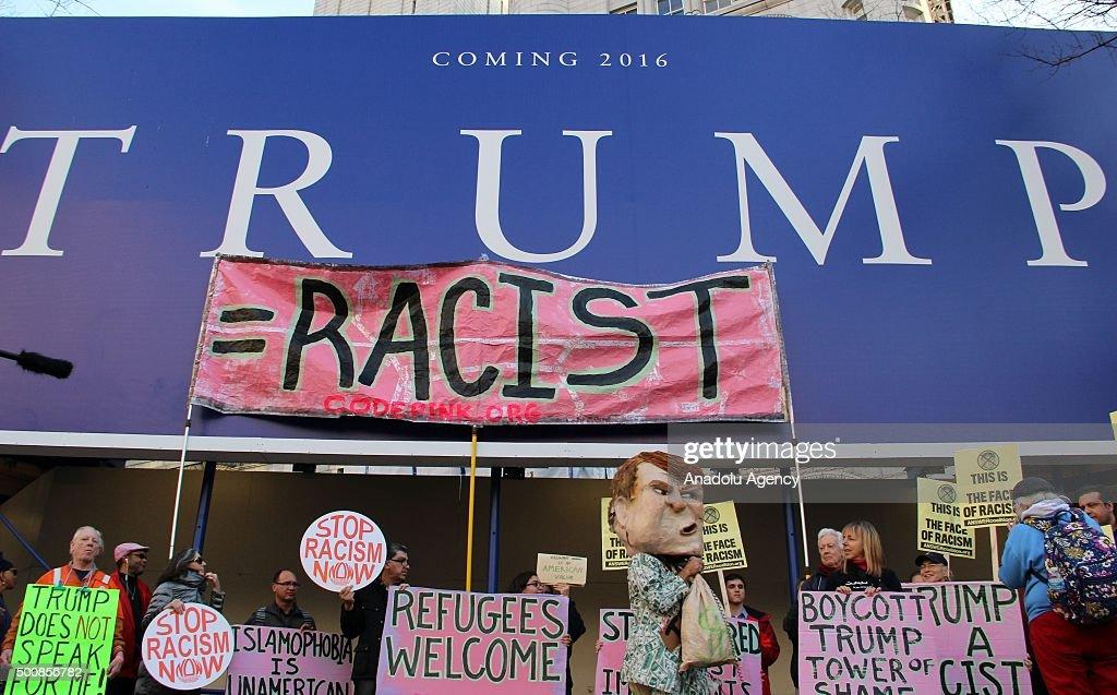 Donald Trump's anti-Muslim hate speech protested in Washington : News Photo