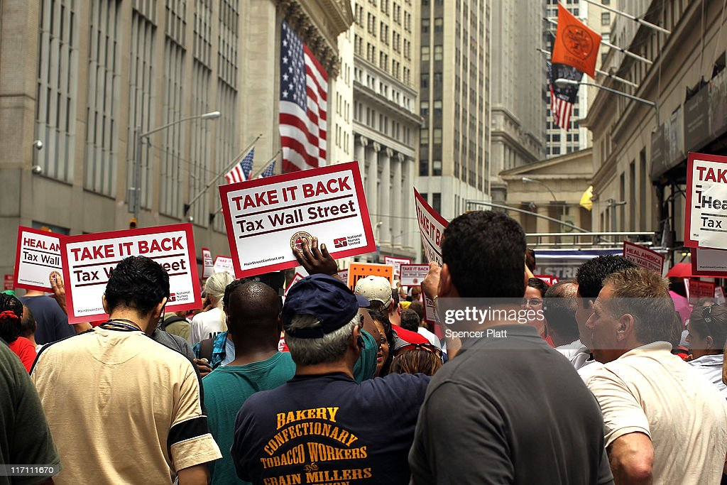 Activists March On Wall Street To Hold Institutions Accountable For Financial Global Crisis : News Photo
