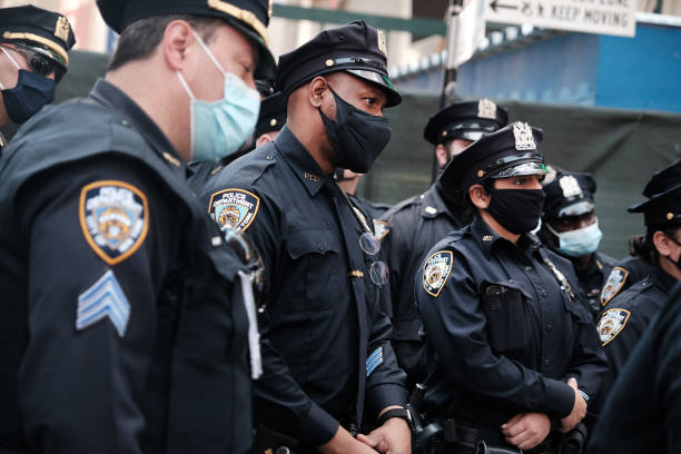 NY: New York City Increases Security As Derek Chauvin Verdict Looms