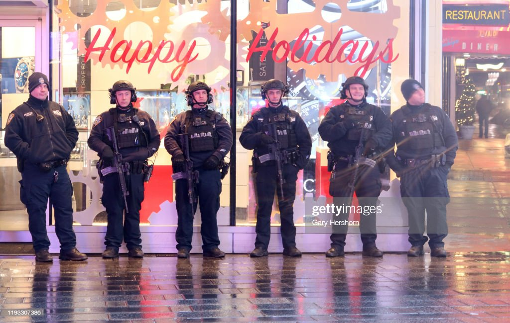 NYPD Counterterrorism Unit in New York City : Nieuwsfoto's