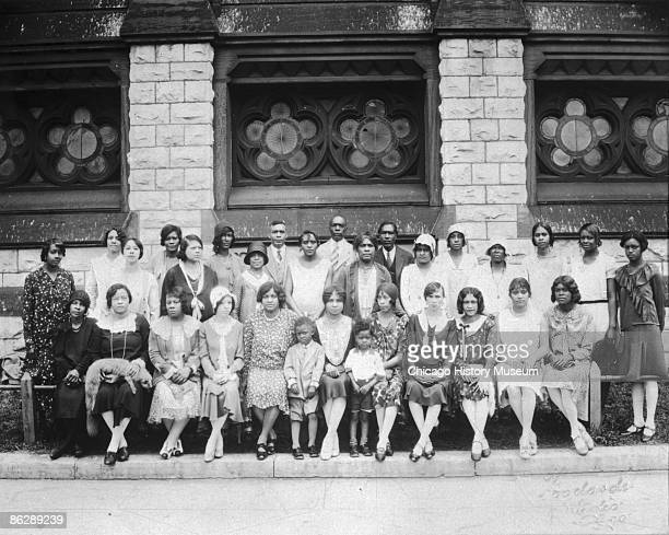 Members of the Olivet Baptist Church gather together for a group portrait Chicago ca1925 The Olivet Baptist Church provided educational and social...