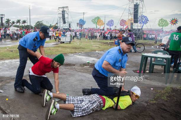 Members of the opposition are trying to boycott celebrations in the capital Managua to celebrate the anniversary of the triumph of the revolution in...