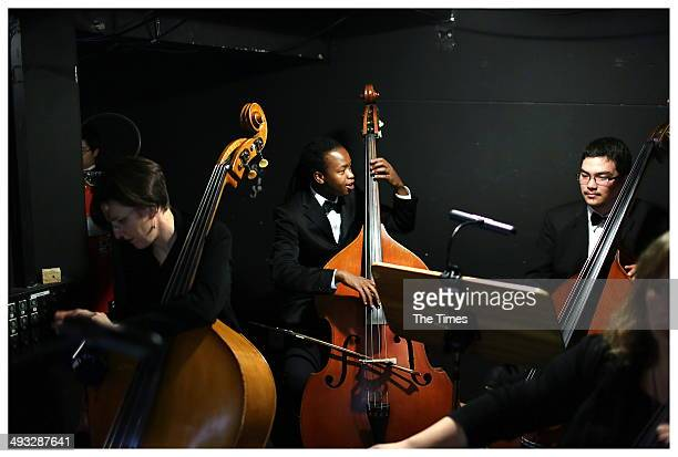 Members of the orchestra during Madiba The African Opera at the State Theatre on May 22 2014 in Pretoria South Africa The opera focuses on Nelson...