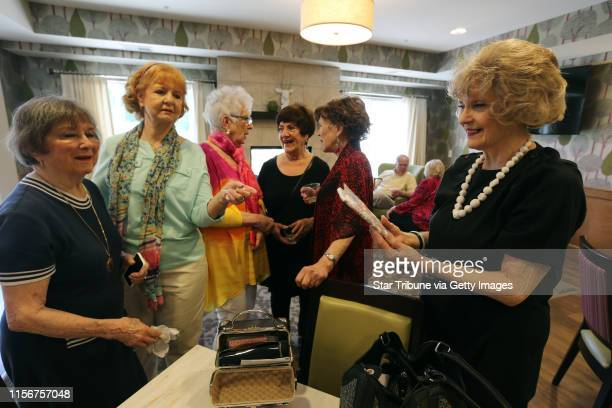 Members of the original Schiek's singers gathered at the Waters assisted living to sing a couple of songs to the residents Thursday May 26 2016 in...