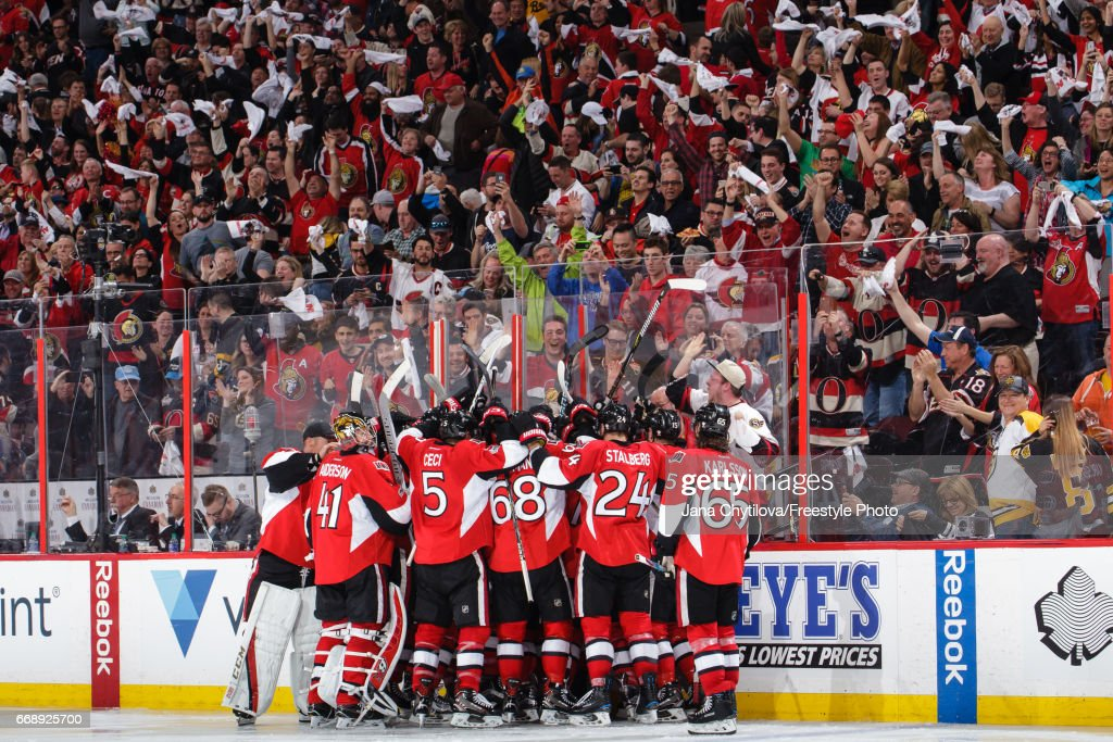 Boston Bruins v Ottawa Senators - Game Two : News Photo