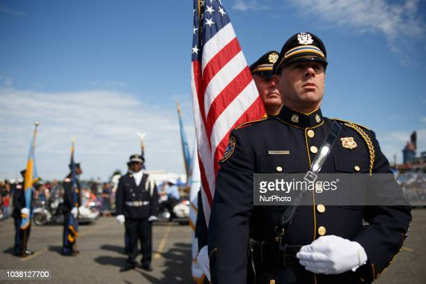 Members of the Philadelphia Police and Fire Departments participate in the Hero Thrill Show an annual event raising money for children of fallen...