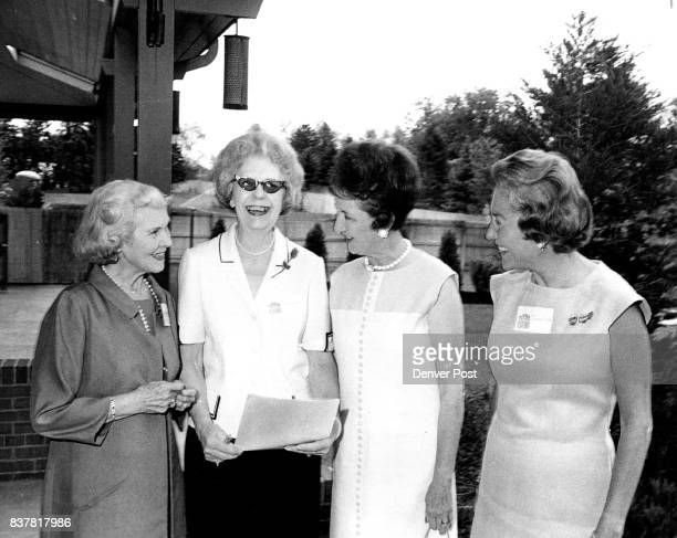 Members of the planning committee for the Central City fashion show Aug 17 include from left Mrs Thomas Welborn Mrs William E Glass Mrs Harold Taft...