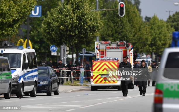 Members of the Police force have closed off the area surrounding the Olympia Einkaufszentrum one day after a shooting with deaths and casualties in...
