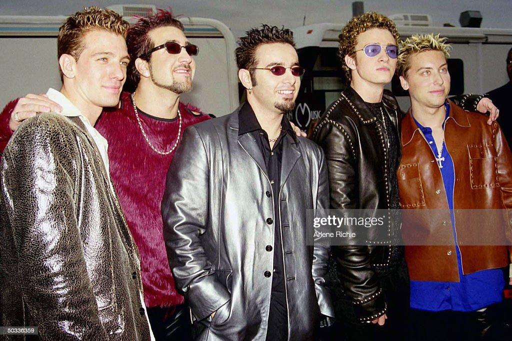 Members of the pop band 'N Sync J  C  Chasez, Joey Fatone