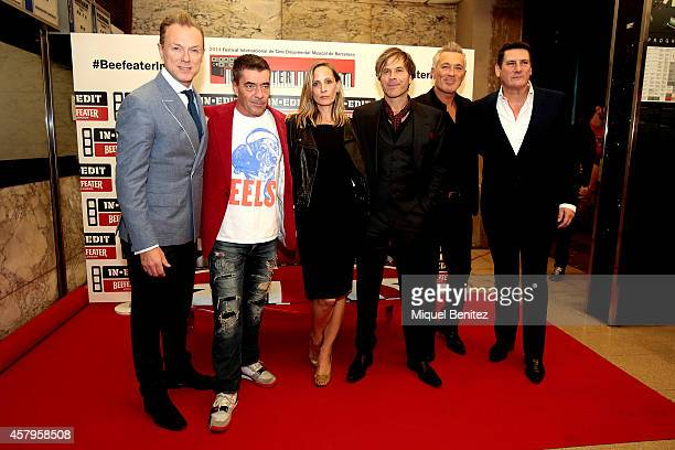 Members of the pop band Spandau Ballet Gary Kemp John Keeble Film Director George Hencken Steve Norman Martin Kemp and Tony Hadley attend the 'Soul...