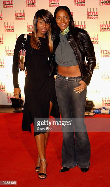 Members of the pop group Mis Teeq arrive at the Elle Style Awards 2004 at The Natural History Museum on February 16 2004 in London