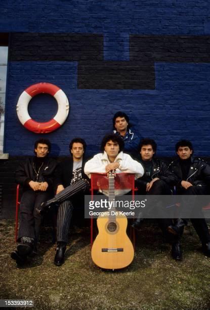 Members of the popflamenco rumba group The Gipsy Kings in London November 1988