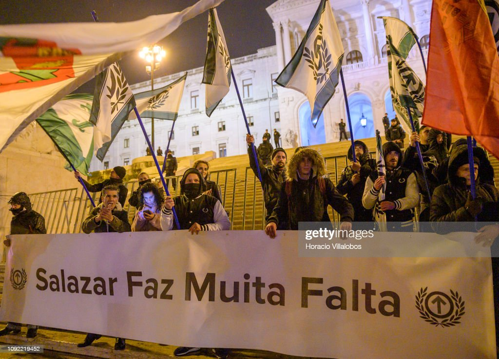 Ultra Right Demonstration in Support of  Late Portuguese Dictator Salazar : News Photo