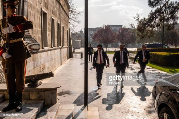 Members of the President Protective Service walk through the Presidential Palace in Kabul Afghanistan on Thursday Nov 1 2018 Afghan President Ashraf...