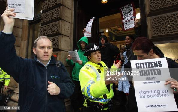 Members of the protest group Citizens United occupy the ...