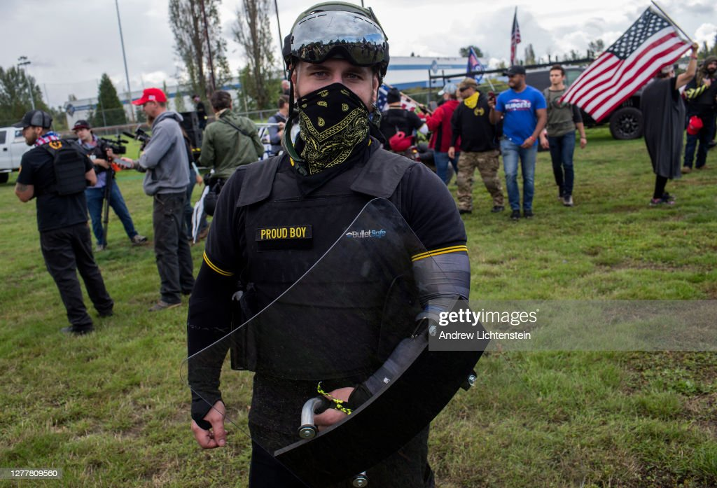 Portland, Oregon on the eve of the 2020 Presidential elections : News Photo