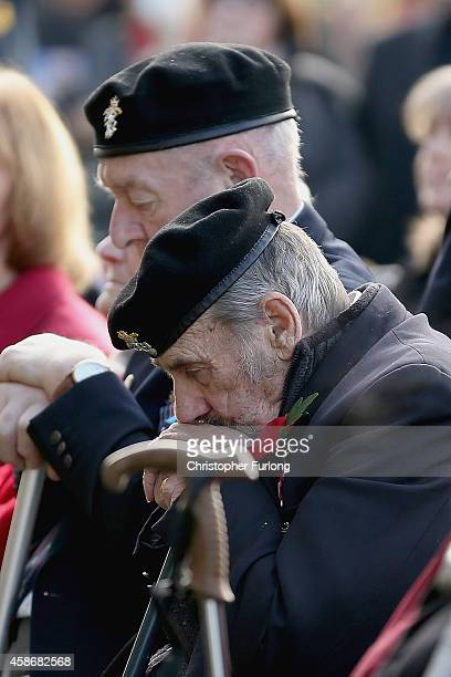 Members of the public and veterans gather to commemorate and pay respect to the sacrifice of service men and women who fought in the two World Wars...