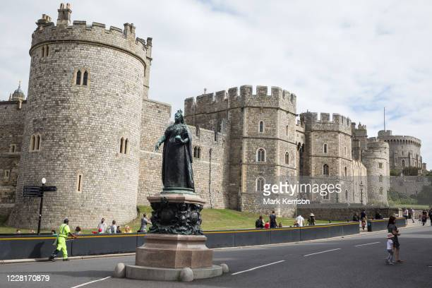 Members of the public arrive to visit Windsor Castle on 23rd August 2020 in Windsor, United Kingdom. The Sunday Times has reported that the Queen...