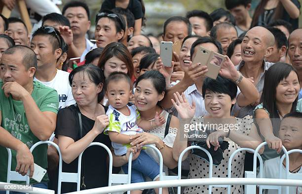 Members of the public at the start line of the final sixth stage 996km Wuhan Xinzhou Circuit race of the 2016 Tour of China 1 On Friday 16 September...
