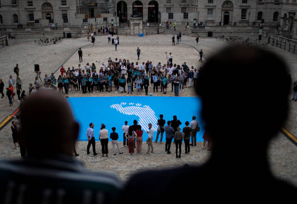 """GBR: """"Fly The Flag"""" Project At Somerset House - Photocall"""