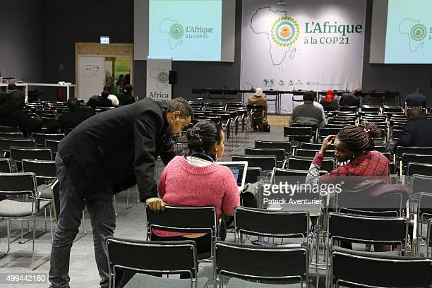 Members of the public attend the opening of COP21 at Le Bourget on December 1 2015 in Paris FranceThe COP21 summit will see negotiators from 195...