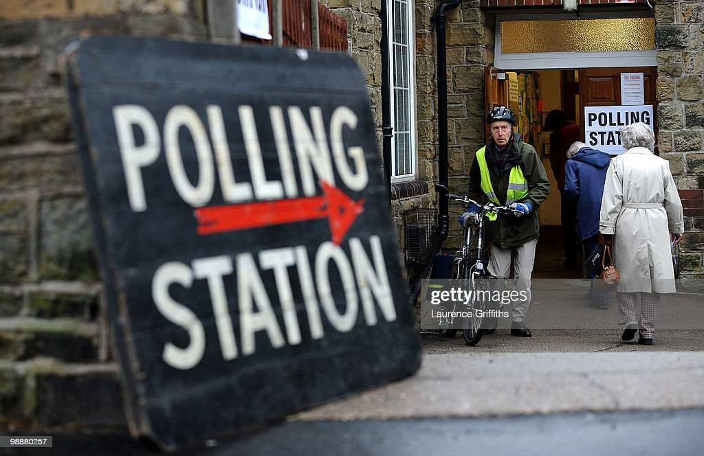 Nick And Miriam Clegg Cast Their Vote In The 2010 General Election : News Photo