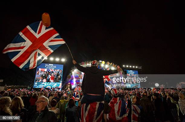 Members of the public during the BBC Proms In The Park at Hyde Park on September 10 2016 in London England